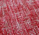 Christmas log cabin towel close-up